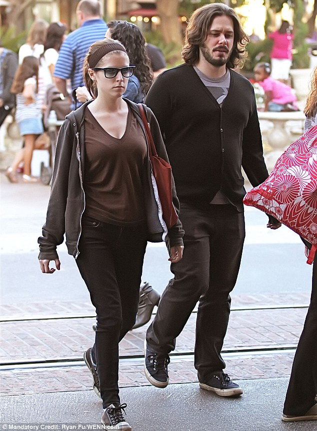 Her old flame: The Portland, Maine native with her ex Edgar Wright at The Grove in West Hollywood in 2011