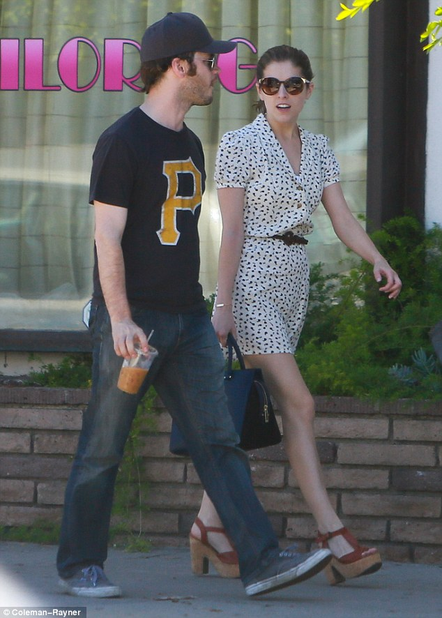 In step: Anna Kendrick was seen with a handsome mystery man while furniture shopping in Hollywood on Sunday