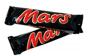Treat: Mars bars and tobacco are now being given out by the star