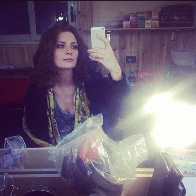 New role: On the day production was reportedly meant to begin, Mischa uploaded a picture with the caption, 'My look for my new role - playing a hungarian girl'