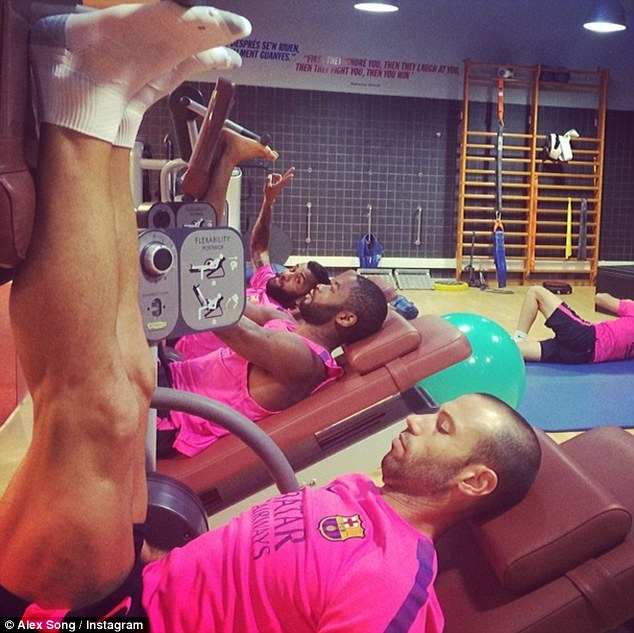 Preparation: Song has been busy training for the new season but did not play a minute of Barca's final friendly