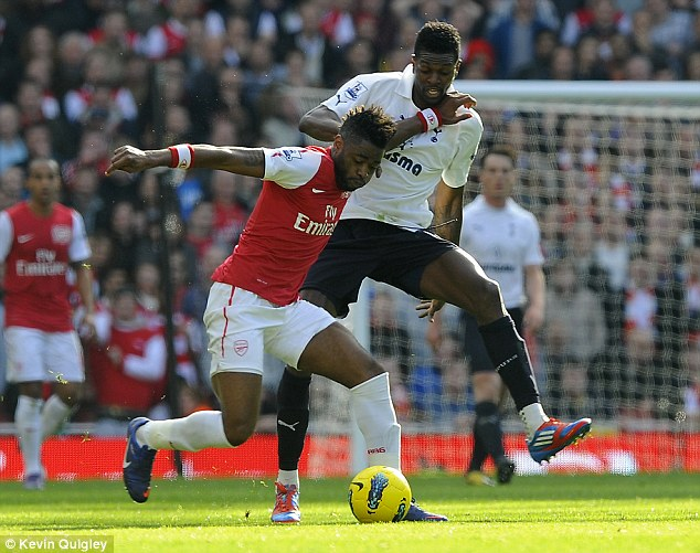 Experienced: Song provided a physical presence in Arsenal's midfield before his move to the Nou Camp in 2012