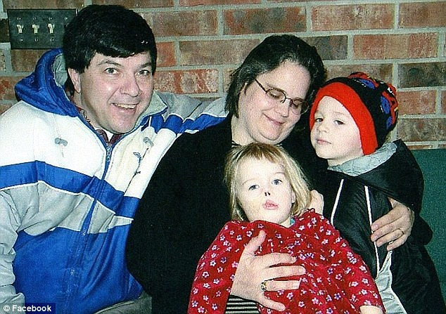 New family: Charlotte has been living (from left) with her great-uncle Tim, great-aunt Sharon and brother Marshall, ever since her parents lost custody of her