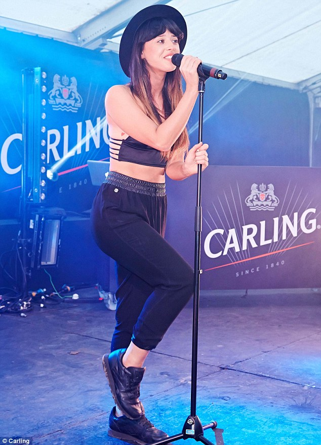 Top of the crops: Foxes also performed at the Chelmsford leg of the two-day music event, taking to the stage at the Carling Roadies Tent