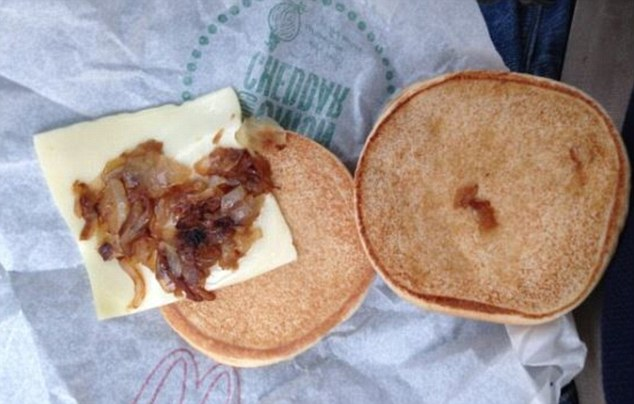 'Thanks for the burger McDonalds' was all this man had to say when he tucked into his food