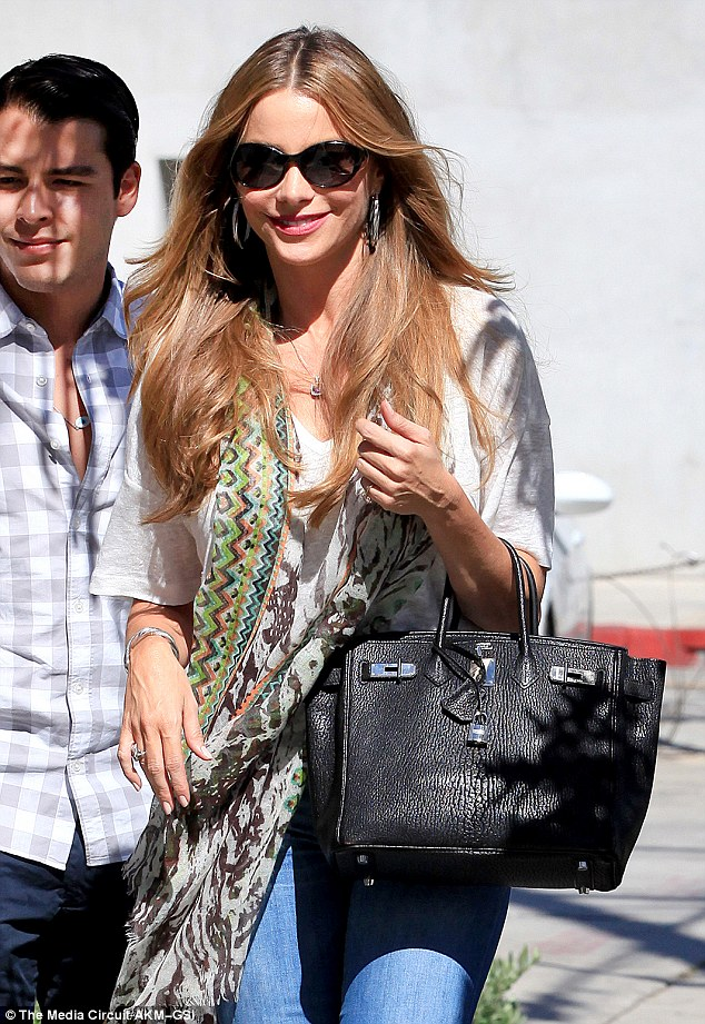 Change of heart? Just hours later, Sofia emerged from lunch with son Manolo and pals at Gracias Madre in West Hollywood with the ring mysteriously absent from her finger