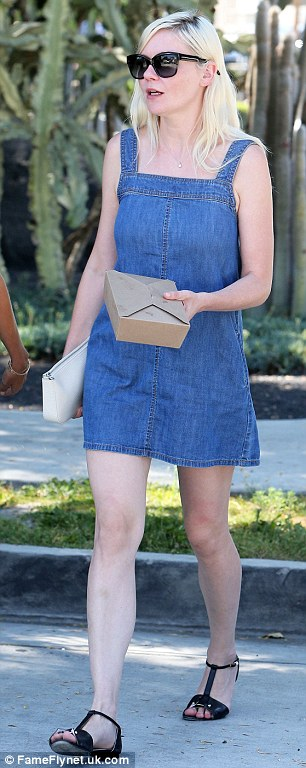 Leggy lady: The Spider-Man star has lately been showing off her long slender legs in tiny shorts and mini-dresses
