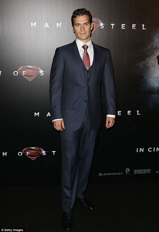 Clark Kent: Henry kept it quite dapper at the premiere of Man Of Steel last year