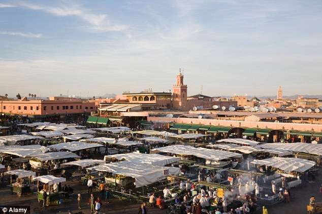 Difficult time: During a two-week holiday to Marrakech (file picture), Morocco, in March this year, Miss Golton, had what she later described as a 'meltdown' and emailed her mother saying she wished to end her life