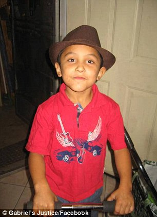 Angel: Gabriel, 8, was found unconscious and not breathing, suffering from a fractured skull, cracked ribs and cigarette burns to his body