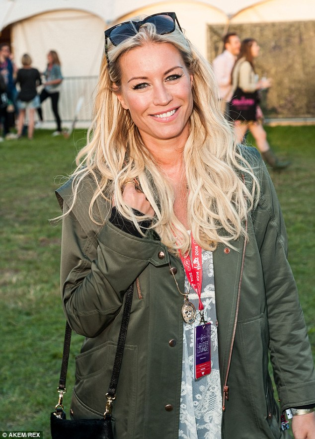 One time mum: Denise Van Outen says she has no plans to have more children
