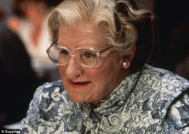 Norman said Williams's role as the nanny in Mrs Doubtfire was 'uproarious Williams', but not his role as the father