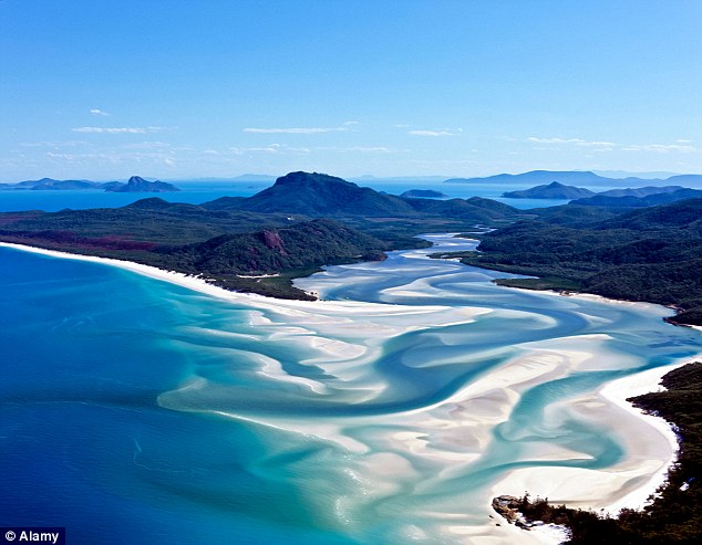 Stunning: Whitehaven beach in the Whitsundays - one of Australia's main attractions