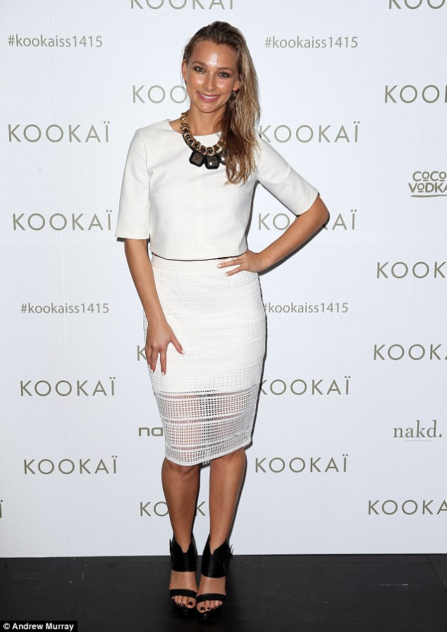 Flying solo! Also opting for an almost all white look was The Bachelor's Anna Heinrich - who appeared in Kookai garbs at the event and was unaccompanied by Tim Robards
