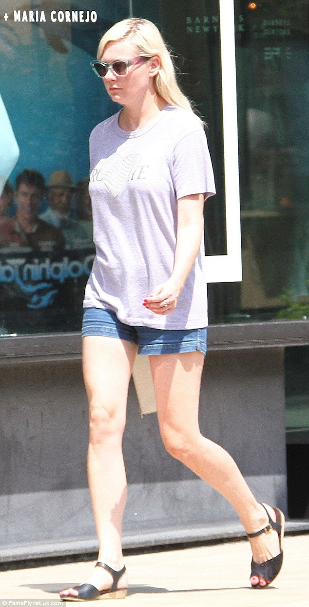 Off-duty chic: Kirsten Dunst worked a demure look when she stepped out at The Grove in LA on Tuesday