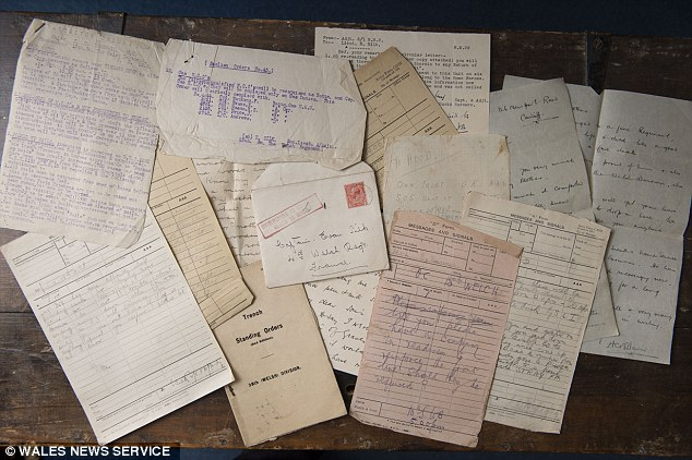 Treasured: These are just a few of the hundreds of letters Captain Silk received from grieving families after he informed them their son, brother or grandson had died on the front line during the First World War