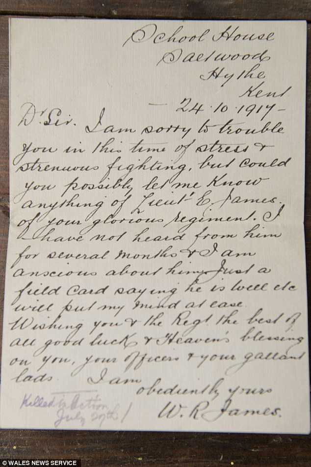 Pining for news: This letter was sent in a desperate bid for news about a relative who had been silent of late