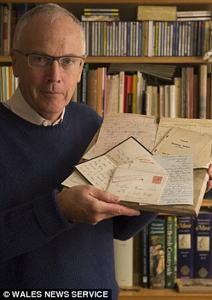 Unveiled: His son, former House of Commons clerk Paul Silk, has unveiled the treasure trove for the centenary