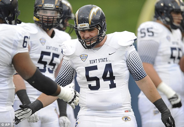 Cut down in his prime: Bitsko was in his fourth year with the Golden Flashes. He started all 12 games in 2013, and received an award during this year's spring game for 'exemplifying hard work and dedication'