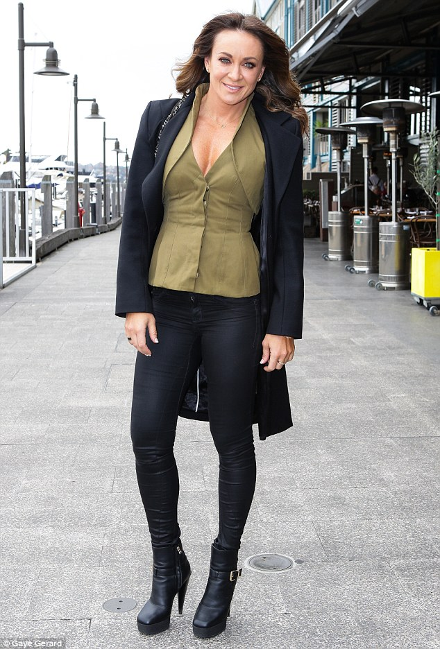 Happy in her skin: Biggest Loser trainer Michelle Bridges, pictured at a lunch by Ultra MD Cosmeceuticals at Otto Ristorante in Sydney on Wednesday, says exercise is not just about losing weight but great for combating depression too