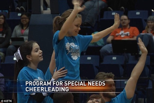 Cheering: The cost for the children joining Team Inspire will be just $15 per month following a fundraiser