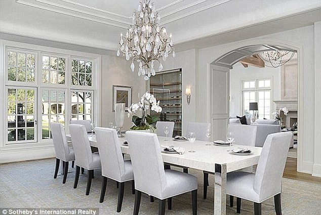 New reality setting: The pair can throw dinner parties for Kim's large family with the property also boosting a giant chefs kitchen from which both a formal dining area and a family room flow off