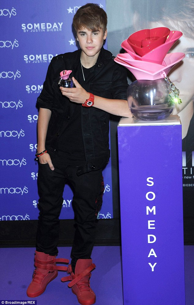 Three years ago: In 2011, Someday was reportedly the number one woman's fragrance in US department stores, the singer pictured at the perfume launch in June 2011