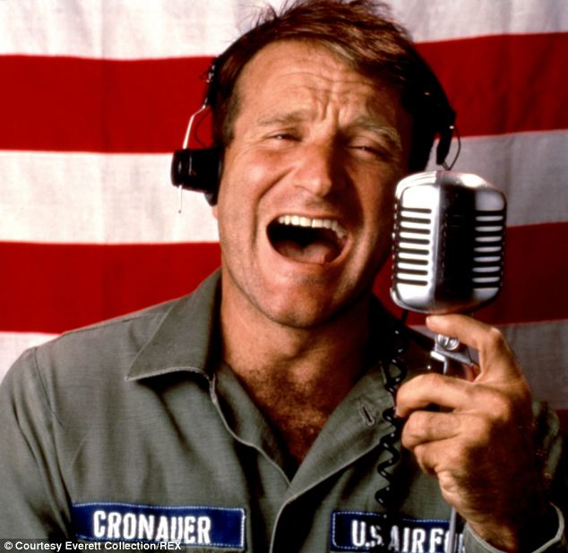 'An enormous talent': Robin Williams in the 1987 film Good Morning Vietnam