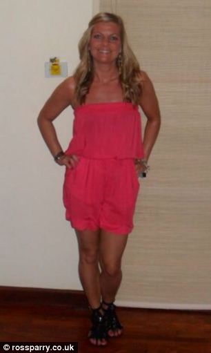 Ms Irving continued to use sunbeds when she was pregnant with baby Ryley, pictured