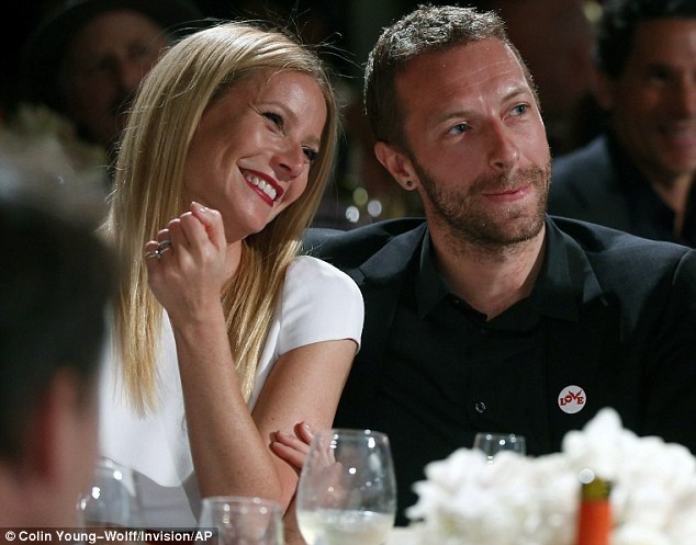A road map: The 32-year-old singer was impressed with how the Oscar winner split from her Coldplay singer husband Chris Martin; here the former couple is pictured in January