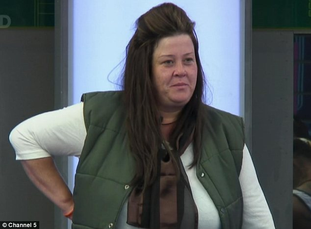 Success: Despite the odds, Benefits Street star White Dee managed to convince the US Celebrity Big Brother contestants that she was a member of the royal family