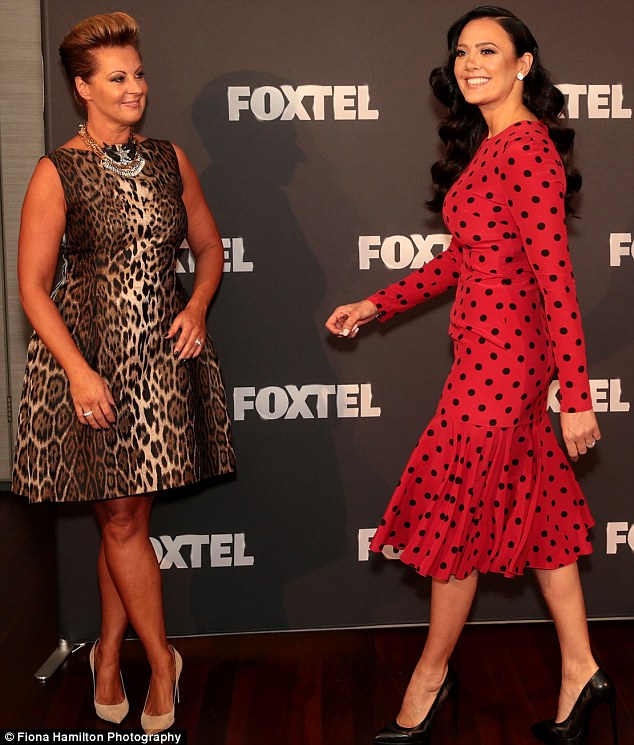 Strutting her stuff: Chyka Keebaugh and Schiavello were among the returning Housewives from the original cast, minus Andrea Moss who left the series