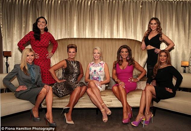 New cast: The women (L - R): Gamble Breaux, Lydia Schiavello, Chyka Keebaugh, Janet Roach, Gina Liano, Jackie Gillies and Pettifleur Berenge