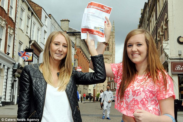 Winners: Friends Charlotte Mezo and Kelly Brierley won a trip to Chambery, France