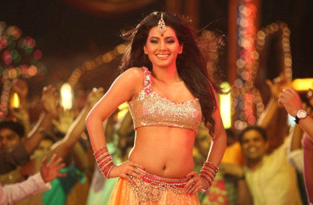 Realised her dream: The 30-year-old grew up in Portsmouth and always wanted to be a Bollywood star