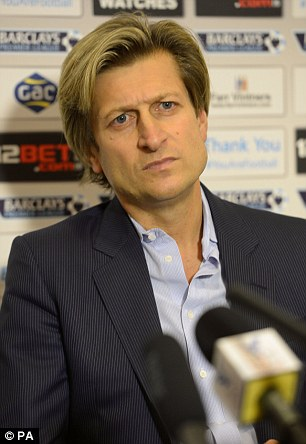 On the lookout: Palace chief Steve Parish needs to find a new permanent boss
