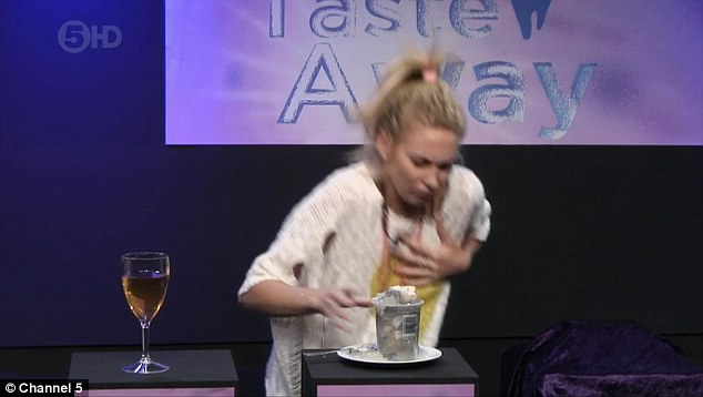 Watch out: The challenge proved too hard for the blonde beauty - who vomited all over the floor after completing her 'audition'