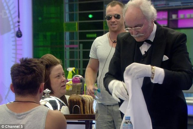 Pulling out all the stops: Dee had plenty of help, both from her fellow British housemates, and her very own butler as she completed her task