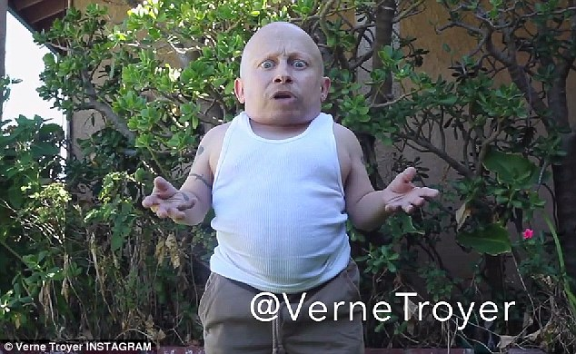 A different idea: Verne Troyer decided to take on the ALS Ice Bucket challenge with a twist