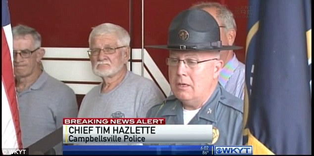 Dangerous: Police Chief Tim Hazlette said at a Thursday afternoon press conference that it appears the ladder never even touched live power lines, but that the electricity 'arched over'