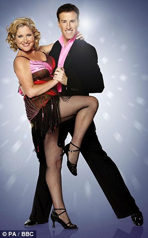 Stepping out: It wasn¿t until 2006, when she was on Strictly Come Dancing, that Jan's own face and voice became well known