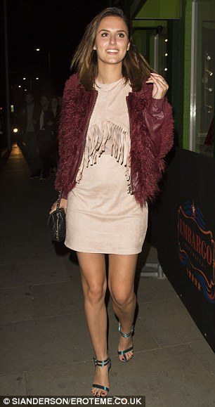 Girl about town: BLucy Watson makes her way into refurbished nightspot Embargo Republica on Thursday night