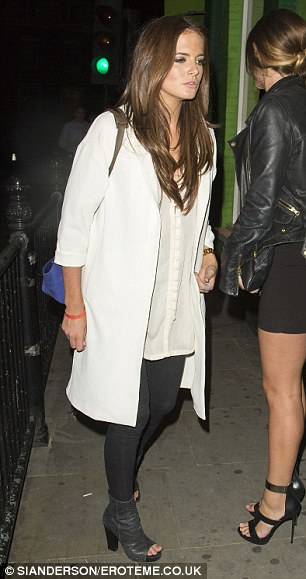 Girl about town: Binky Felstead makes her way into refurbished nightspot Embargo Republica on Thursday night