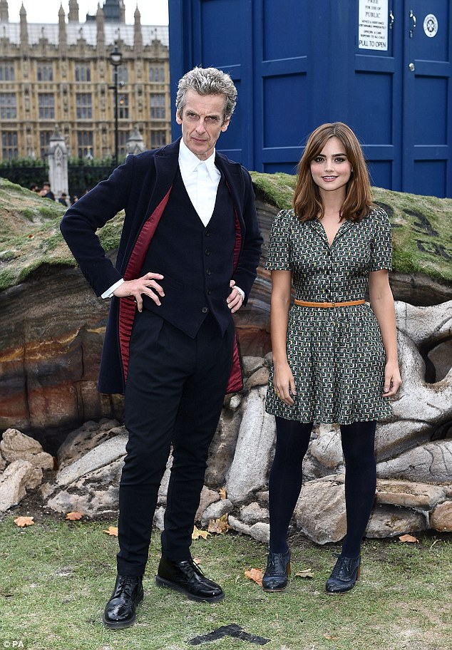 Tour twosome: Jenna and Peter have taken the Tardis all over the world on their promotional Doctor Who tour, making stopsSeoul to Sydney and New York to Rio de Janeiro