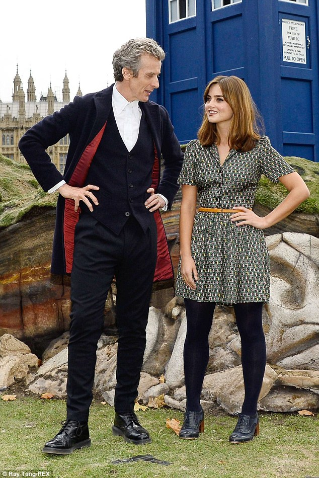 It's back: Jenna returns to the show with Peter becoming the 12th Doctor to join the franchise this summer