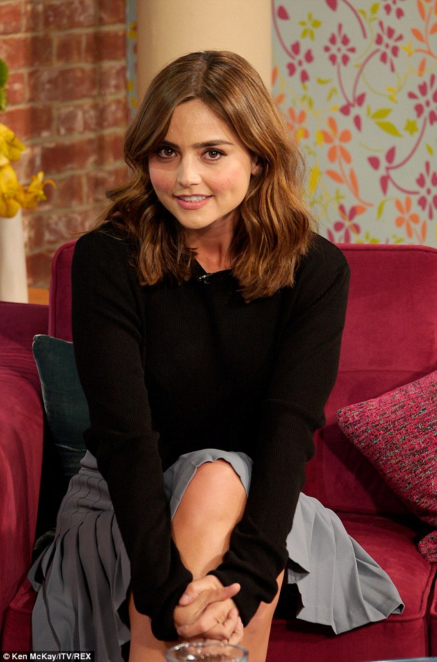 Sweet thing: Actress Jenna Coleman appeared on Friday's This Morning ahead of the release on Saturday