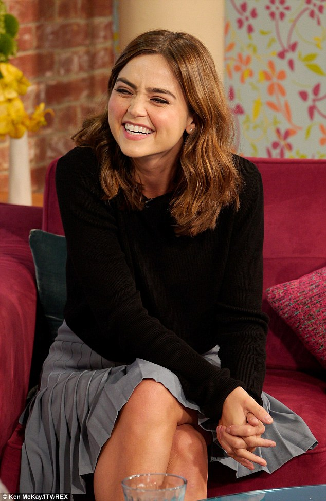 Future plans: Jenna promoted Doctor Who on morning television, speaking about her future in the show