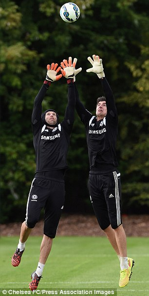 Pick me: Cech (left) has attracted interest from the likes of PSG and Monaco