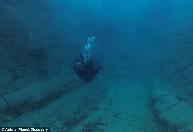 Exploring: The underwater route then brings the swimmer back out to the main swimming pool