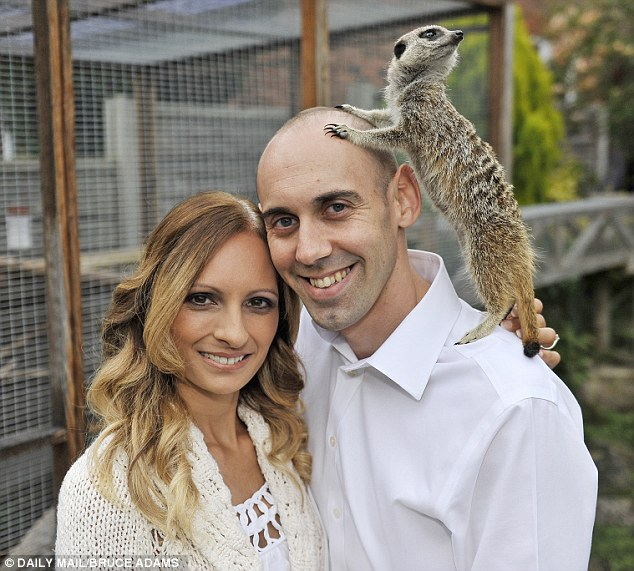 Melissa, 39, and Ben Mews, 34, have three Meerkats at their home in Haslington in Cheshire